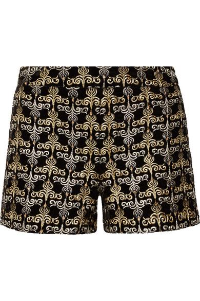 Mit Paypal Zu Verkaufen Alice + Olivia Marisa bestickte Shorts aus Samt mit Verzierungen Offizielle Seite Verkauf Online Verkauf Größten Lieferanten 98LmZYQyP