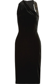 Willa embellished velvet dress