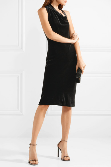 Online-Suche Zu Verkaufen Cushnie et Ochs Willa Kleid aus Samt mit Verzierungen Auslass Footlocker Bilder Billige Sneakernews qYhUTaSEI