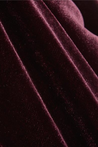Cushnie et Ochs Juno Jumpsuit aus Samt mit Cape-Effekt