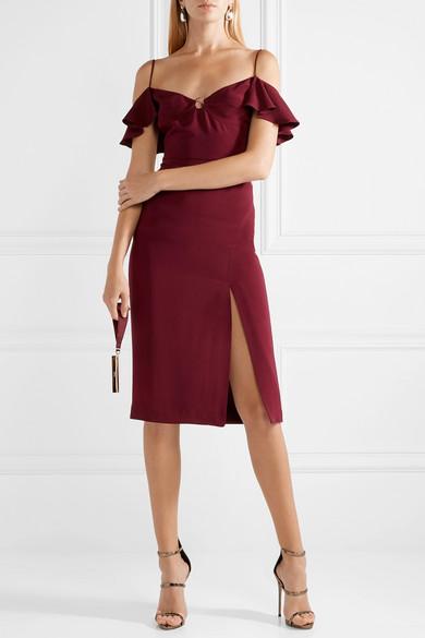 Cushnie et Ochs Blake schulterfreies Kleid aus Seiden-Georgette