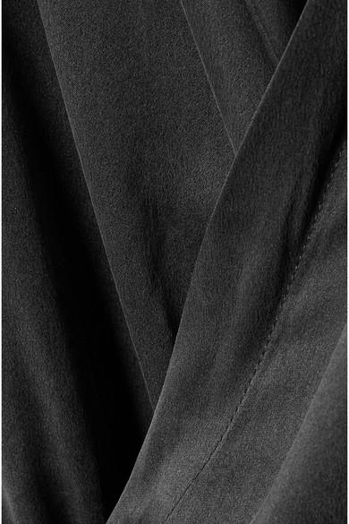 Kiki de Montparnasse Body aus vorgewaschener Seide mit Wickeleffekt