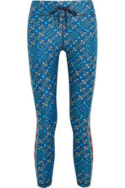 Casa Azul cropped printed stretch leggings