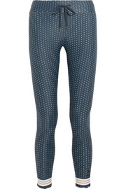 Ruffled polka-dot stretch leggings