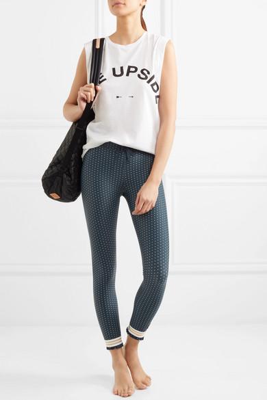 The Upside Stretch-Leggings mit Polka-Dots und Rüschen