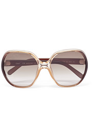 Misha oversized square-frame acetate sunglasses