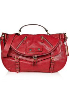 Alexander McQueen | Faithful Medium polished-leather satchel from net-a-porter.com