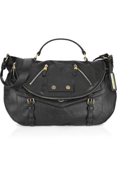 Girls on the go will love Alexander McQueen's black leather satchel...