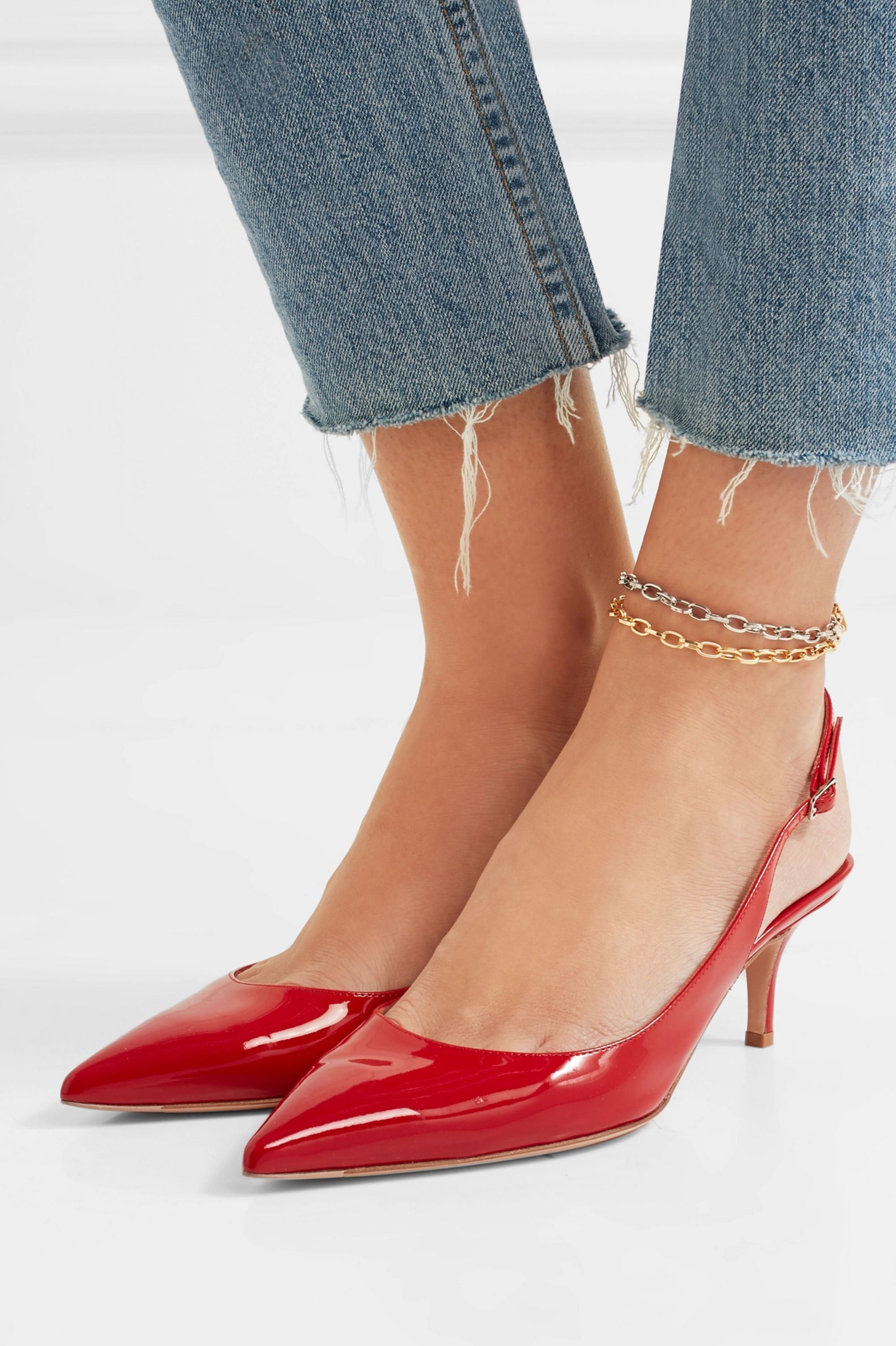 Kenneth Jay Lane Gold and silver-tone anklets