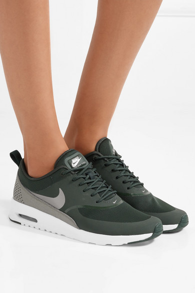 online retailer 5d892 0d5a7 Air Max Thea croc-effect leather-trimmed mesh sneakers