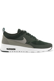 Nike Air Max Thea croc-effect leather-trimmed mesh sneakers
