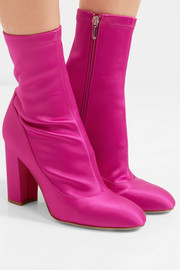 Calexa stretch-satin sock boots