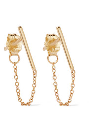 Ballerina 14-karat gold earrings