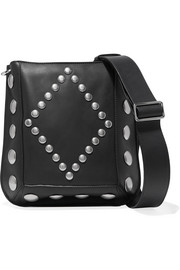 Oksan large studded leather shoulder bag