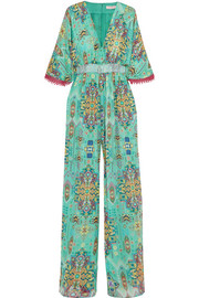 Inca Jewel silk-chiffon jumpsuit