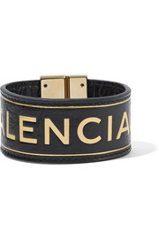 Balenciaga Blanket embossed textured-leather bracelet