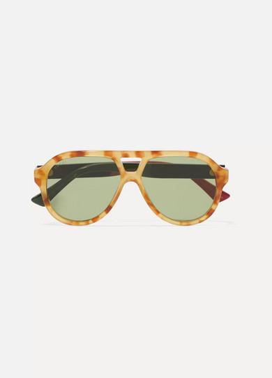 4a032830467 Gucci. Oversized aviator-style acetate sunglasses