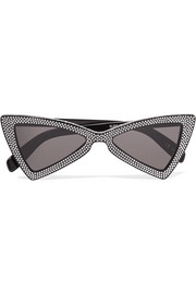 Saint Laurent New Wave 207 Jerry Cat-Eye-Sonnenbrille aus kristallverziertem Azetat