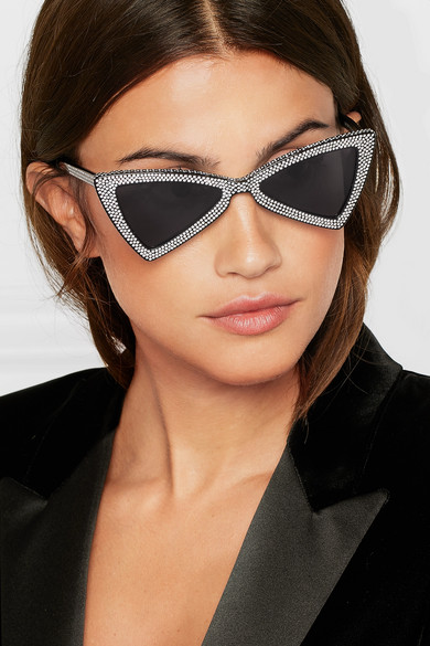 4843919ebf SAINT LAURENT. New Wave 207 Jerry crystal-embellished acetate cat-eye  sunglasses. £578. Zoom In