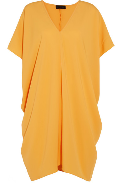 HATCH - Slouch Draped Crepe Dress - Yellow
