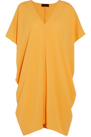 Slouch draped crepe dress