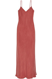 Ricky washed-satin midi dress