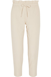 Cotton-blend tapered pants