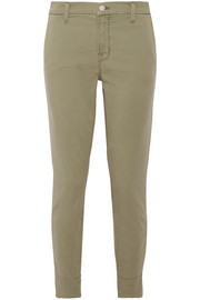 Josie stretch cotton-blend twill skinny pants