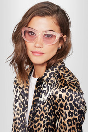May cat-eye glittered acetate sunglasses