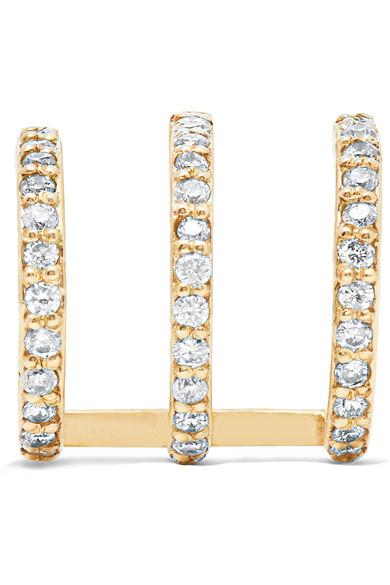 Pistol 10-karat Gold Diamond Earring - one size Beaufille mVIPxVcCUW