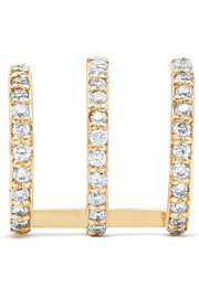 Ringlet 10-karat gold diamond earring