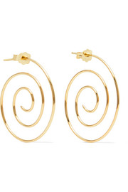 Spiral 10-karat gold earrings