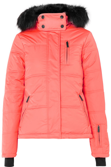 9b2d54b3551 Topshop Sno. Rio hooded faux fur-trimmed quilted ski jacket