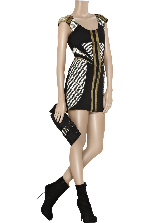 Black The Real Thing Printed Mini Dress Sass Bide Net A Porter
