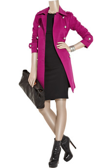 Sonia by Sonia Rykiel Cotton and cashmere-blend twill trench