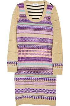 Sonia by Sonia RykielWool-blend Fair Isle sweater dress