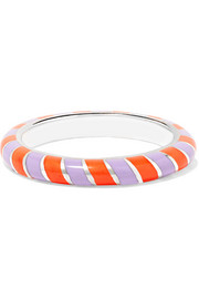 Candy 18-karat white gold enamel ring