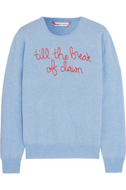 Till The Break Of Dawn embroidered cashmere sweater