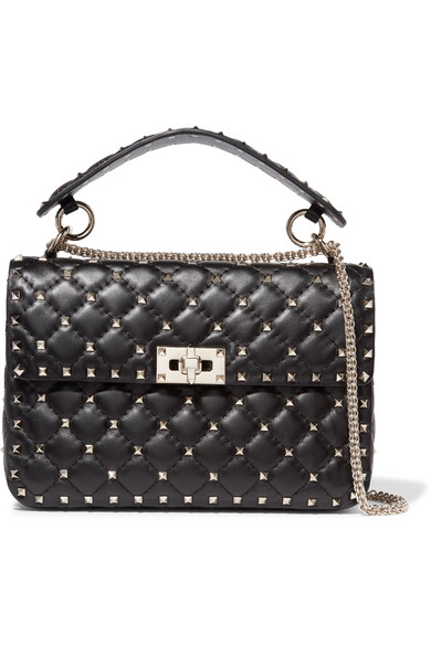 8cc909b92c6 Valentino. Valentino Garavani The Rockstud Spike medium quilted leather  shoulder bag