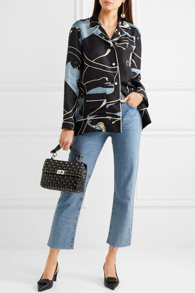 e4e92f9baae Valentino Garavani The Rockstud Spike medium quilted leather shoulder bag