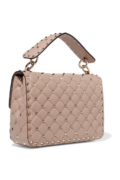 Valentino Garavani The Rockstud Spike Medium Quilted Leather Shoulder Bag - Blush Valentino L0dxf9b
