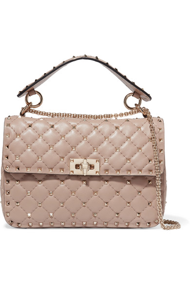 Valentino Garavani The Rockstud Spike Medium Quilted Leather Shoulder Bag Net A Porter Com