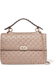 Valentino Rockstud Spike large quilted leather shoulder bag
