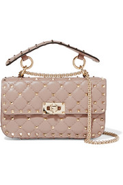 Valentino Rockstud Spike small quilted leather shoulder bag