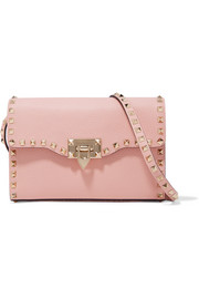 The Rockstud medium textured-leather shoulder bag