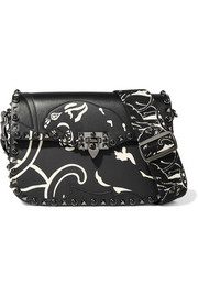Valentino Panther embellished leather shoulder bag