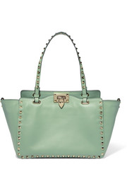 The Rockstud leather tote