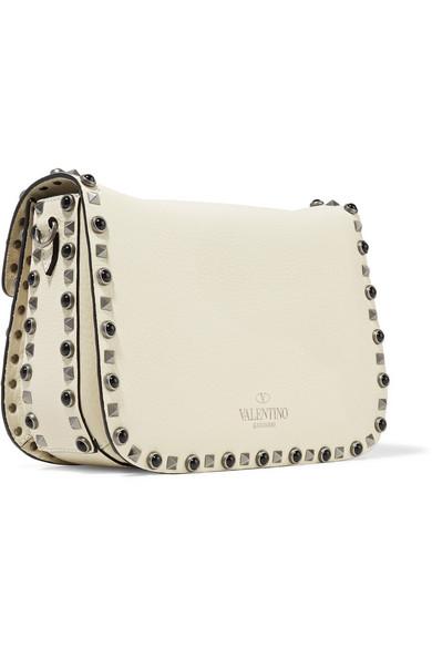 Valentino Rockstud Schultertasche aus Leder Billig Verkauf Fabrikverkauf CTHzEURQsC