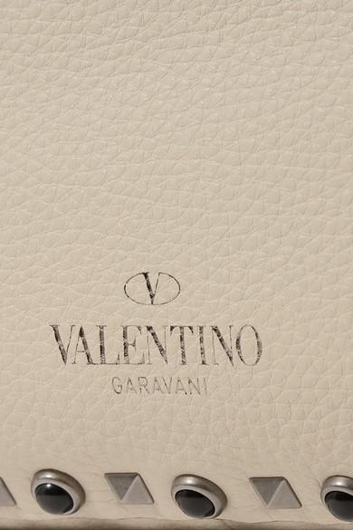 Valentino Rockstud trapezförmige Tasche aus strukturiertem Leder Billige Versorgung Pbdyv