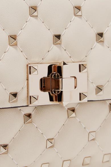 Geringster Preis Outlet Großer Rabatt Valentino Rockstud Spike kleine Schultertasche aus gestepptem Leder Neue Ankunft Verkauf Online Frei Verschiffen Angebot Billig Verkauf Countdown-Paket SPQr7
